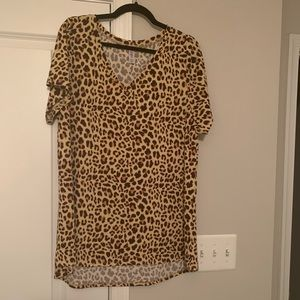 Lularoe leopard cheetah Christy XXL